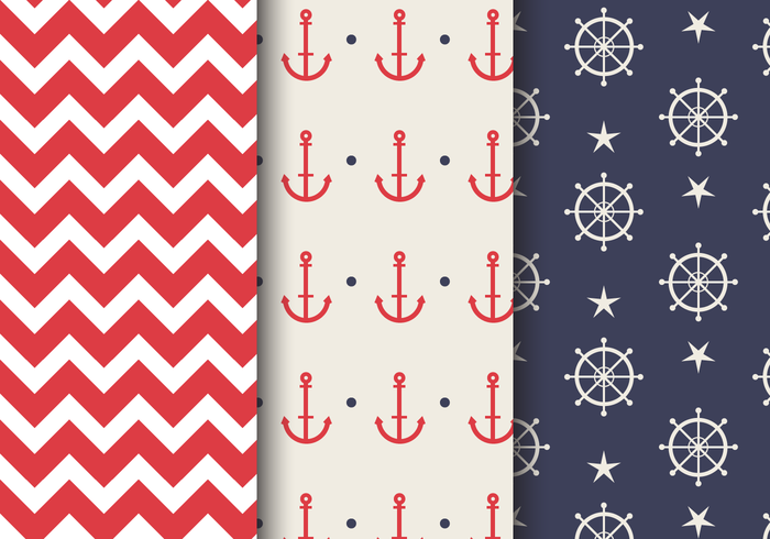 Free Sea Nautical Pattern vektor
