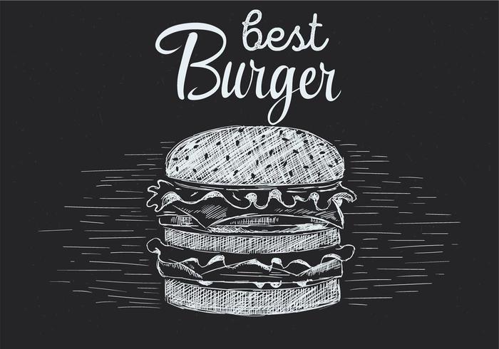 Freie Hand gezeichnete Vektor Burger Illustration