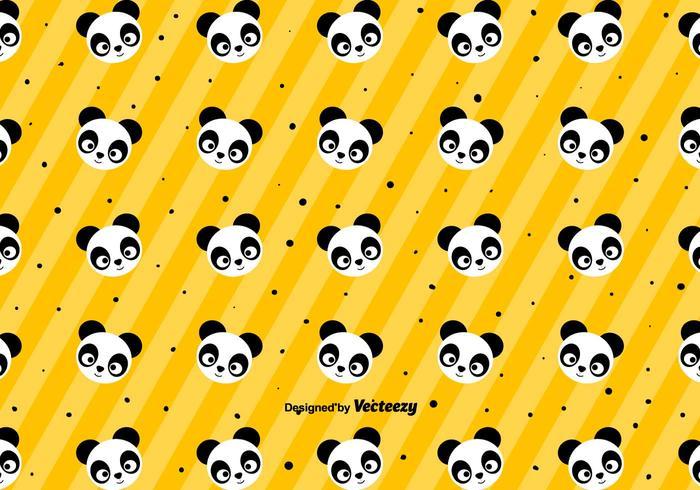 Cute Panda Pattern - Vector