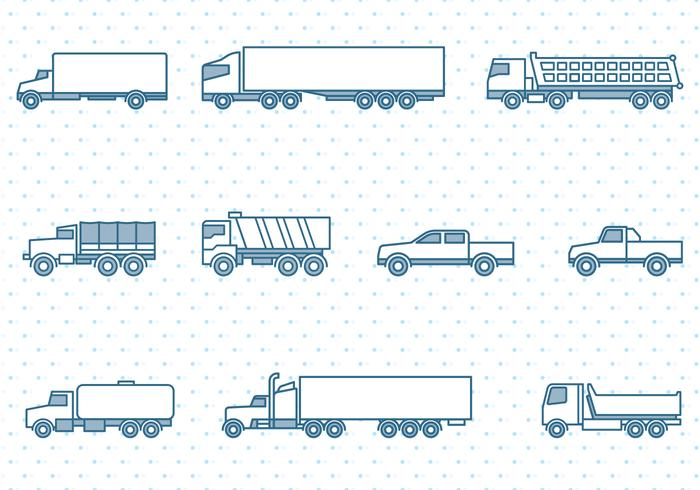 Trucks Icons Set vektor
