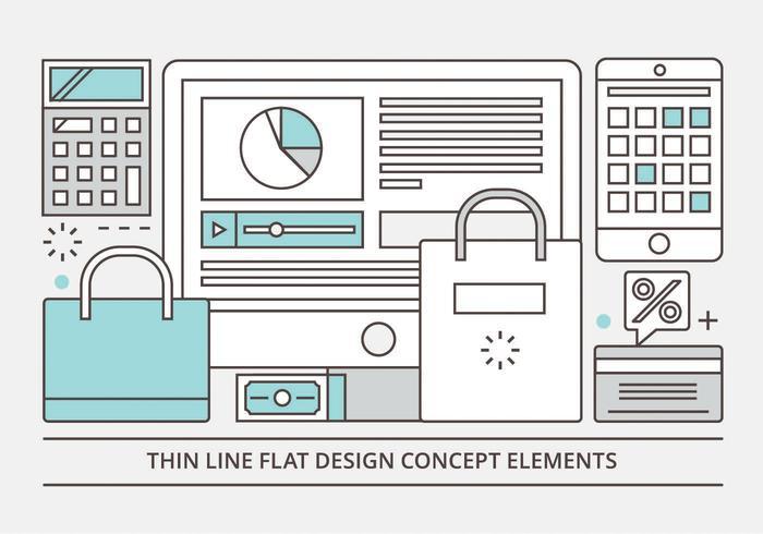Gratis Flat Linear Vector Design Illustration