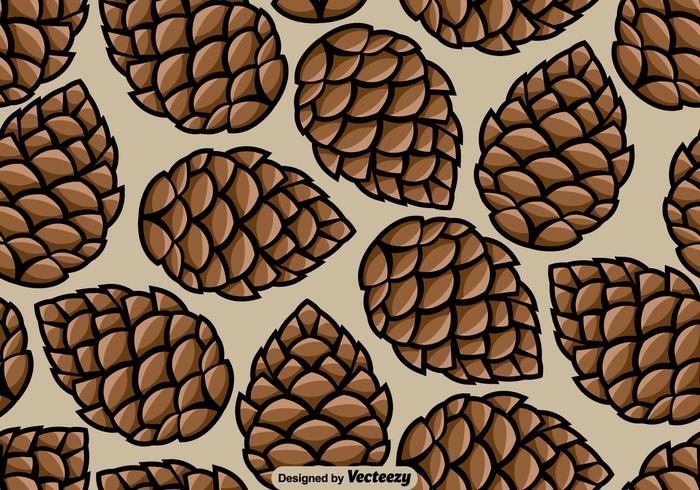 Pine Cone Seamless mönster - Vector
