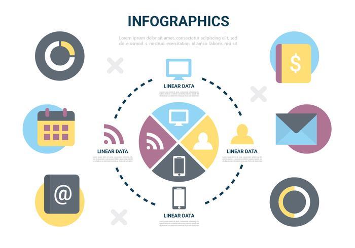 Gratis Vector Flat Design Infographic