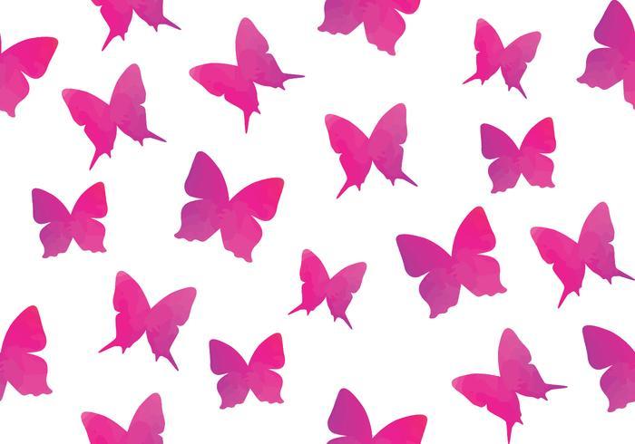Aquarell Schmetterling Nahtlose Muster Schmetterling vektor