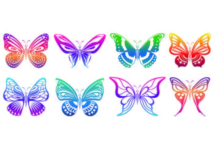 Set von Mariposa Icons vektor