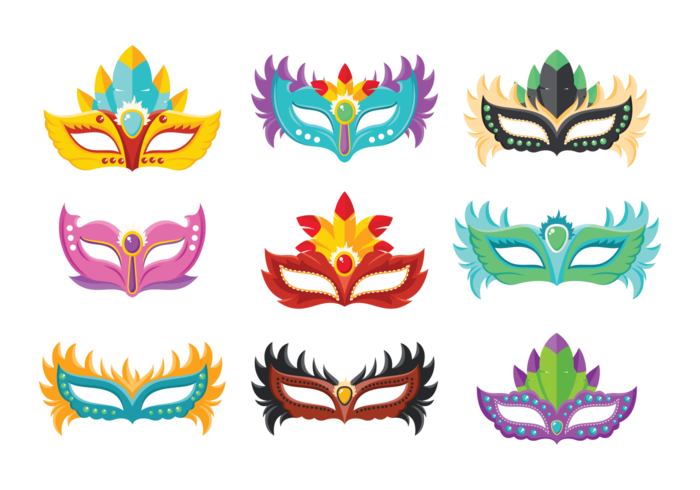 Masquerade Ball Icons Vector