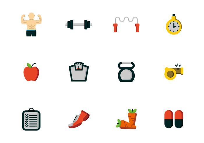 Gesundheit Fitness Icon Vektoren