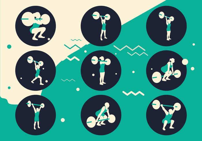 Sportsträning Silhuetter vektor