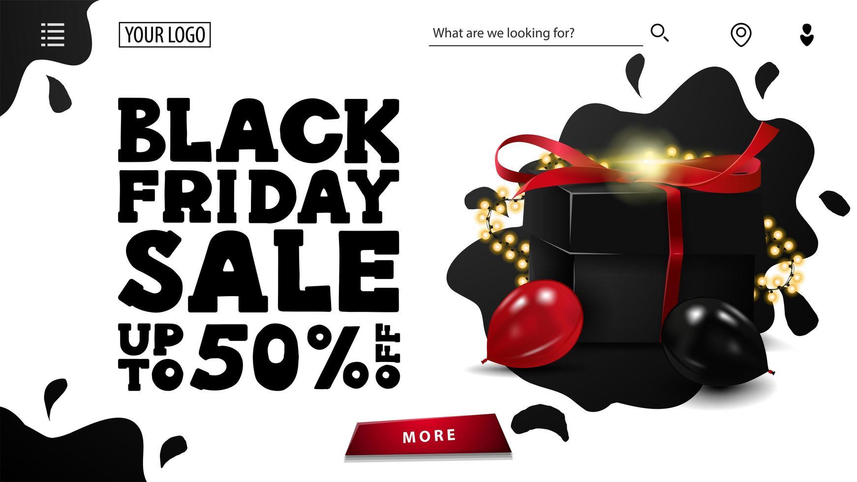 svart fredag försäljning och rabatt vecka vektor