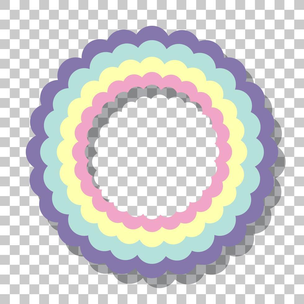 pastell rainbow ring ram isolerad på transparent bakgrund vektor