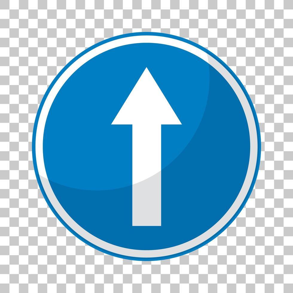 blaues Verkehrszeichen auf transparentem Hintergrund vektor