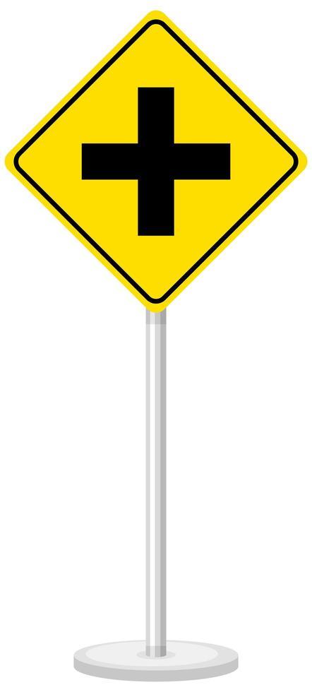 gul trafikvarningsskylt på vit bakgrund vektor
