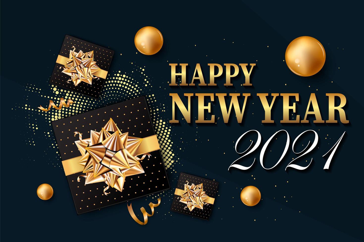 2021 Neujahrshintergrund für Urlaub vektor