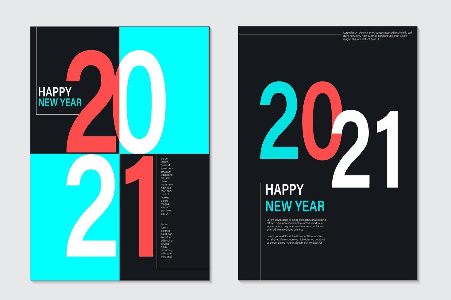 2021 Neujahrshintergrund für Feiertagsgrußkarte vektor