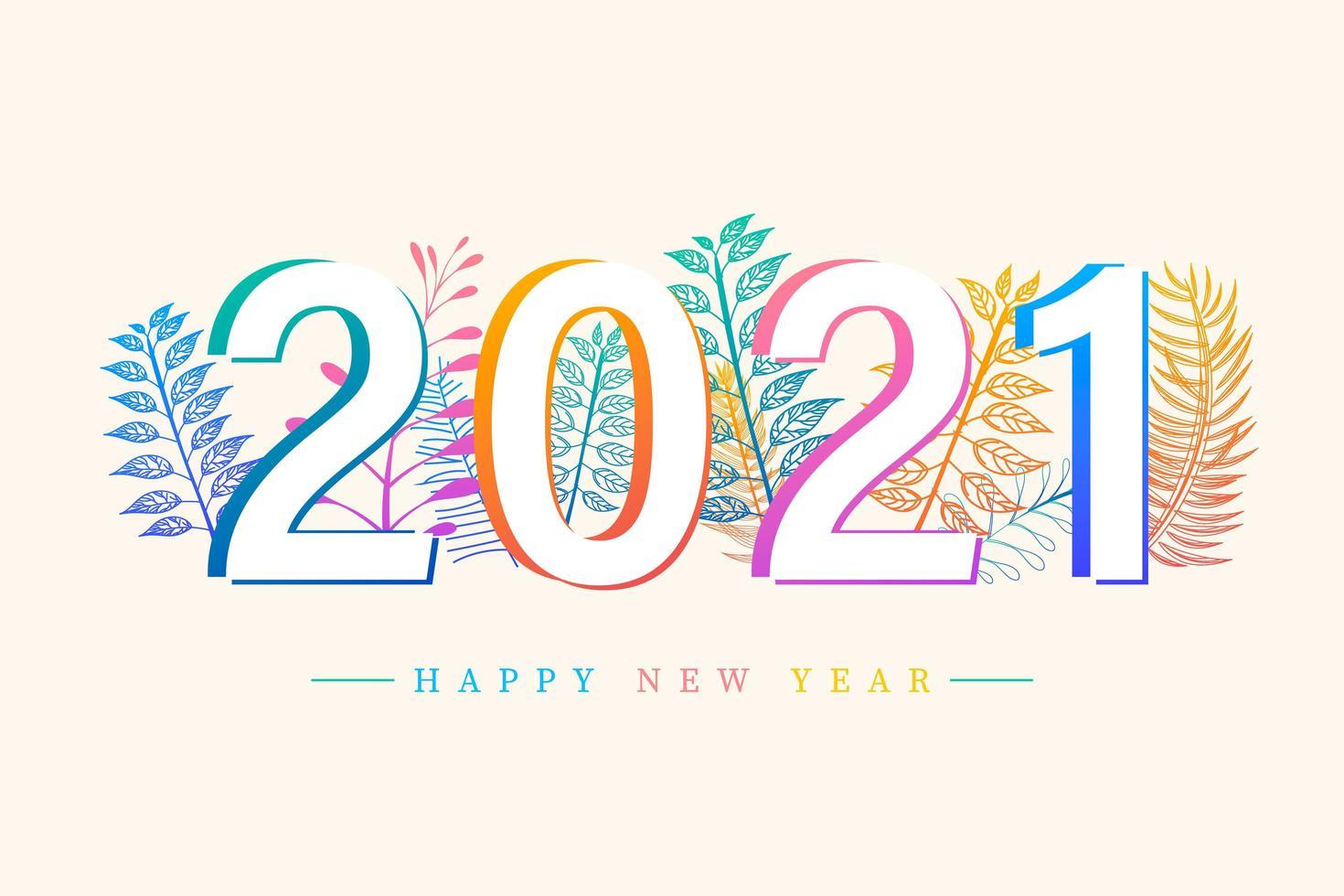 frohes neues Jahr 2021 vektor
