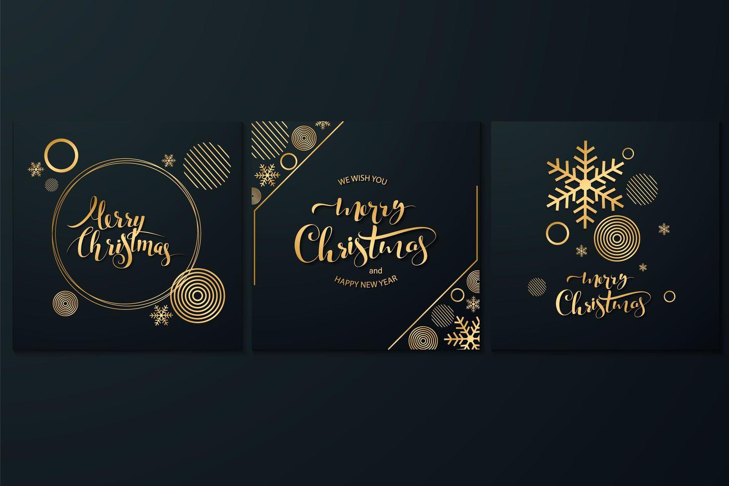 Frohe Weihnachten Kartensatz vektor