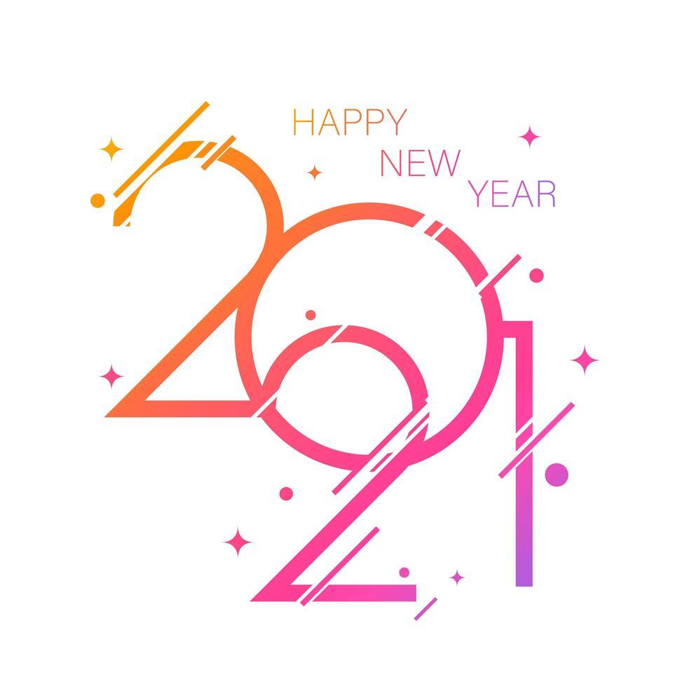Gefälle frohes neues Jahr 2021 vektor