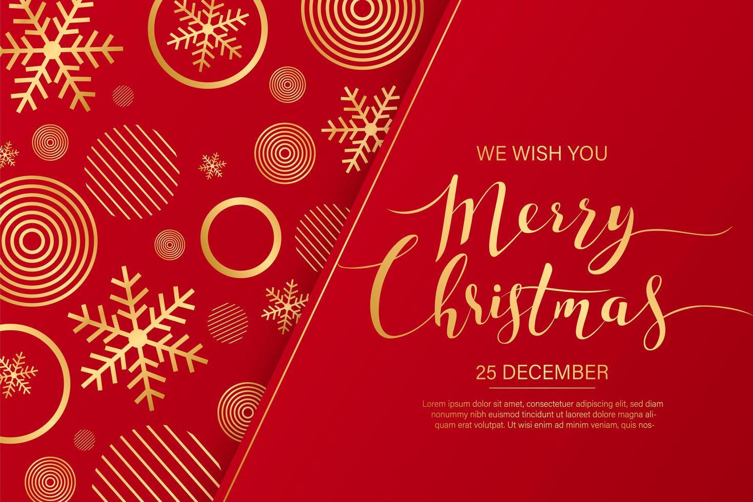 kalligrafiska god jul gratulationskort vektor