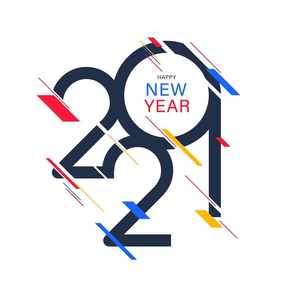 gott nytt år 2021 vektor