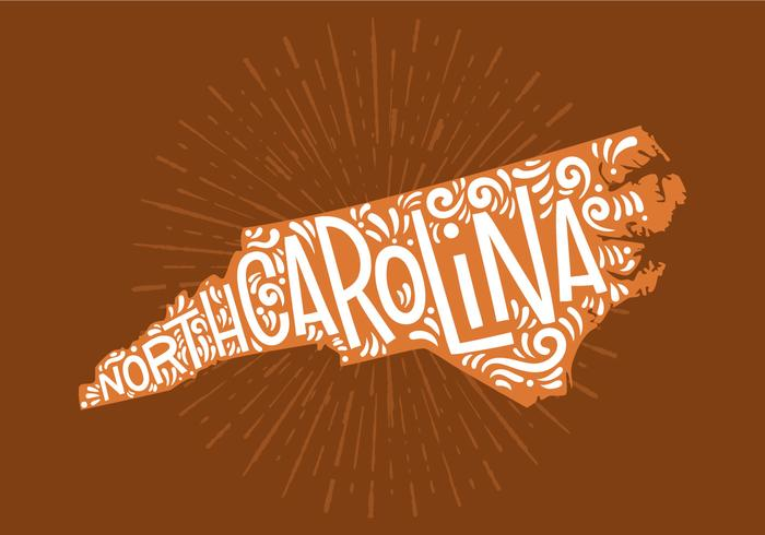 North Carolina State Lettering vektor