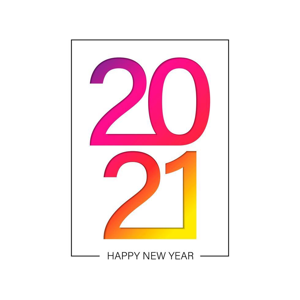 gradient happy new 2021 jahr vektor