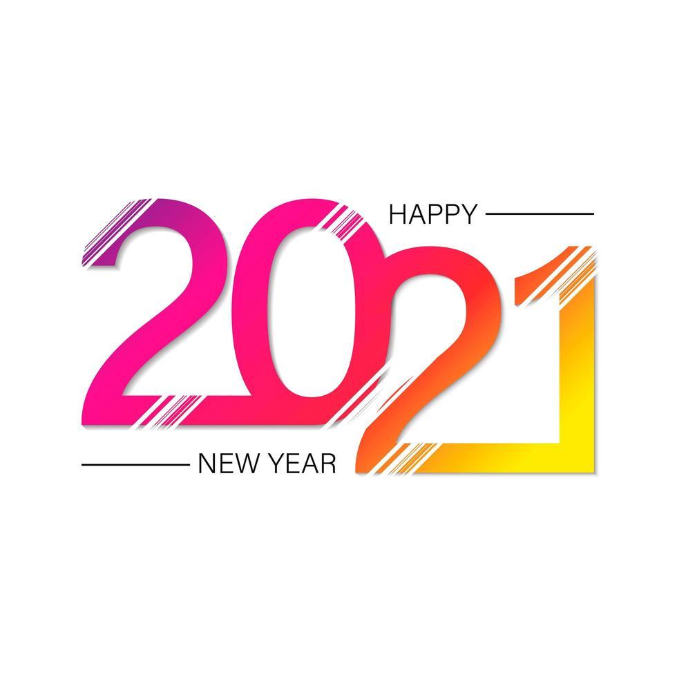 Frohes neues 2021 Jahr vektor