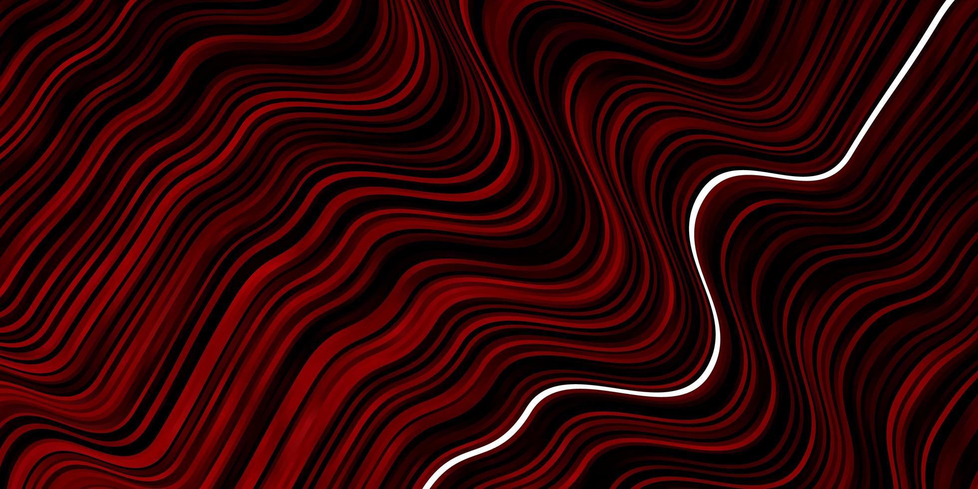 dunkelrotes Muster mit Kurven. vektor