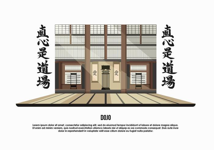 Dojo Zimmer Hintergrund Vektor-Illustration vektor