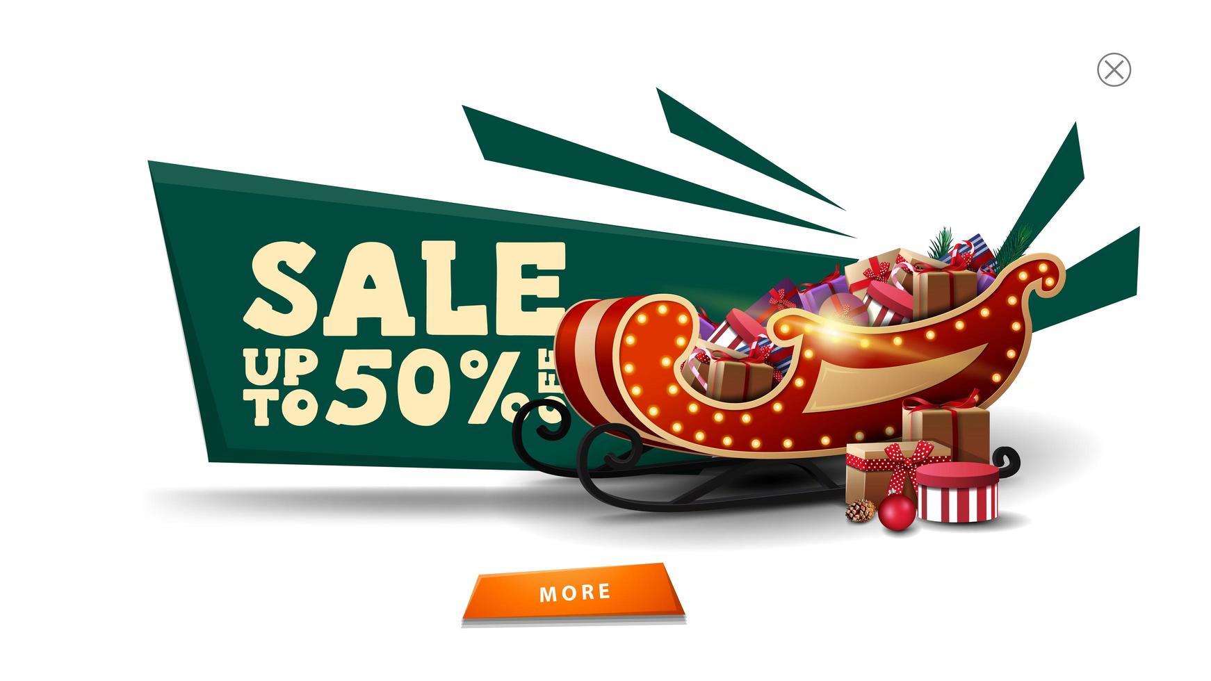 Weihnachtsverkauf weiß Pop-up für Website vektor