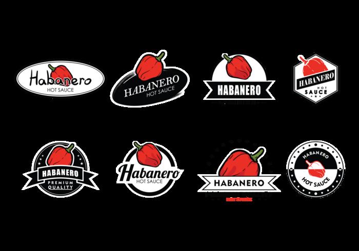 Habanero Etiketten Vektor