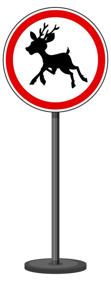 rött trafikskylt på vit bakgrund vektor