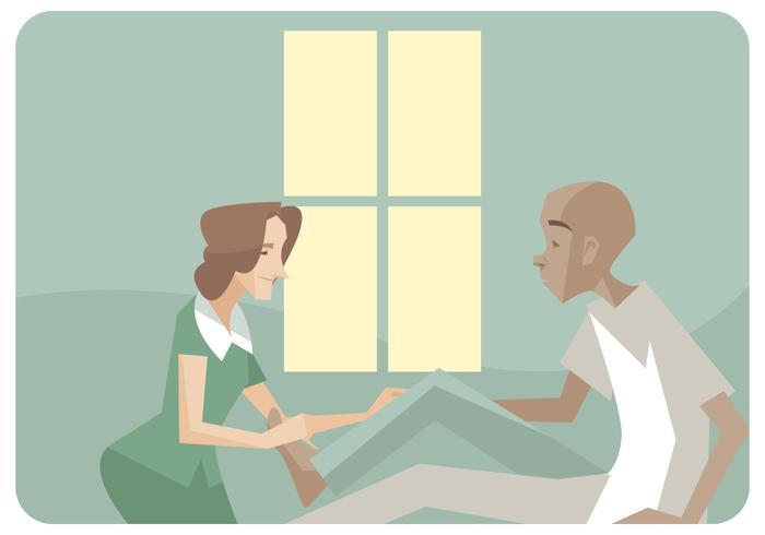Physiotherapeut gibt einen Bein Massagen Vektor