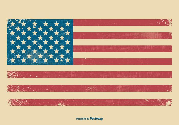 Amerikanska Grunge Flagg Bakgrund vektor