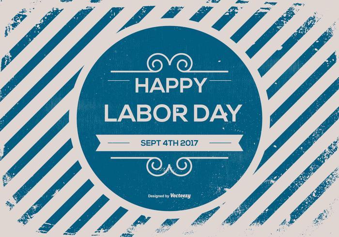 Gammal Retro Labor Day Bakgrund vektor