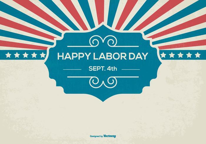 Retro Glad Labor Day Bakgrund vektor
