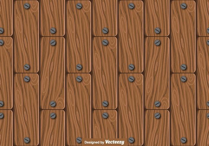 Nahtlose Holz Planken Muster - Vektor
