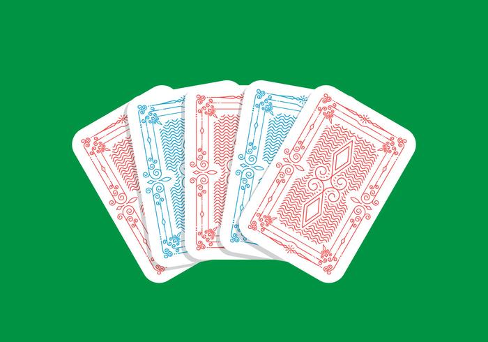 Spielkarten-Design vektor