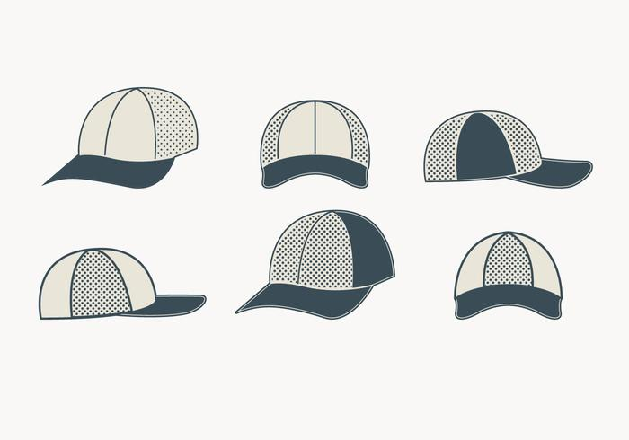 Graue Fernlastfahrer-Hut-Sammlung vektor