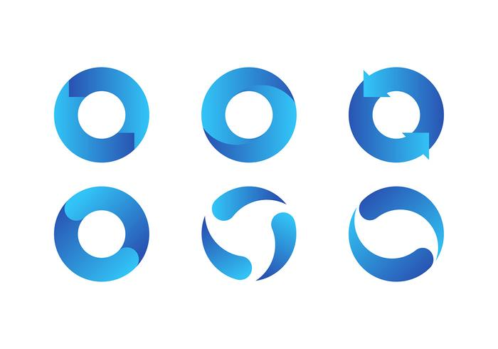 Aktualisiere Icon Blue Free Vector