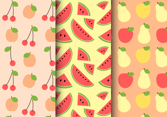 Gratis sommarfruktmönster vektor