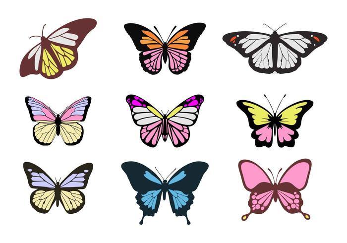 Gratis Färgglada Fjärilar Vektorer