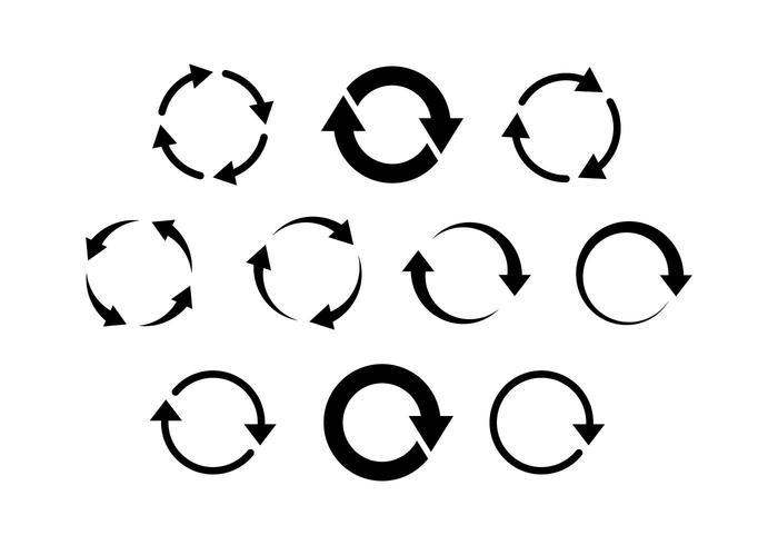 Gratis platt ikon Arrow Vector