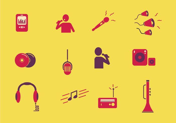 Musikalisk ikon I färg vektor