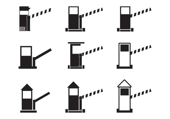 Mautstelle Icon Set vektor