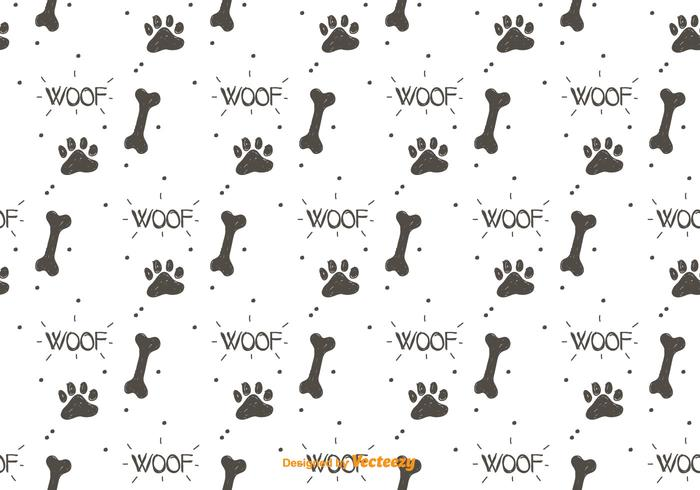 Dog Footprint Pattern Vector