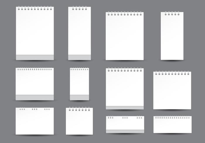 Skrivbordskalendermall vektor