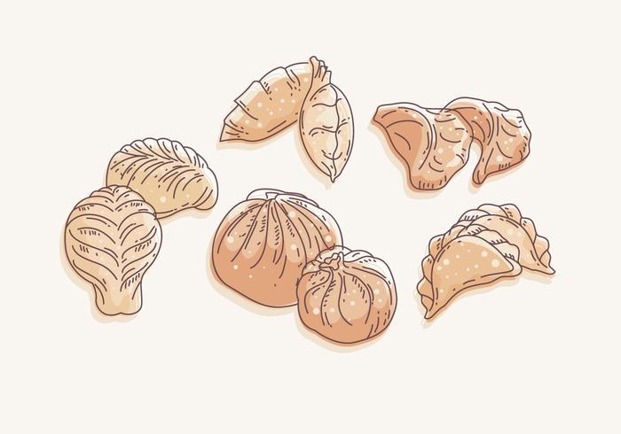 Dumplingsvektor vektor