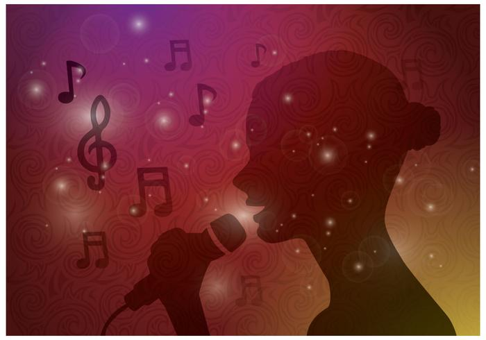 Free Female Singing Vektor