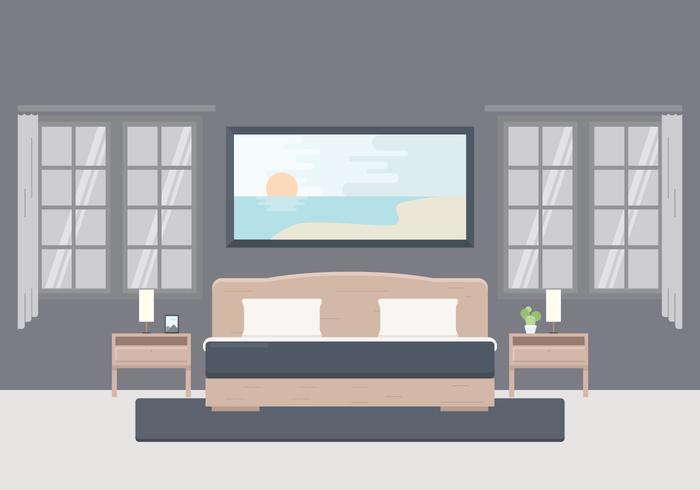 Kostenlose Illustration von Schlafzimmer mit Möbeln vektor