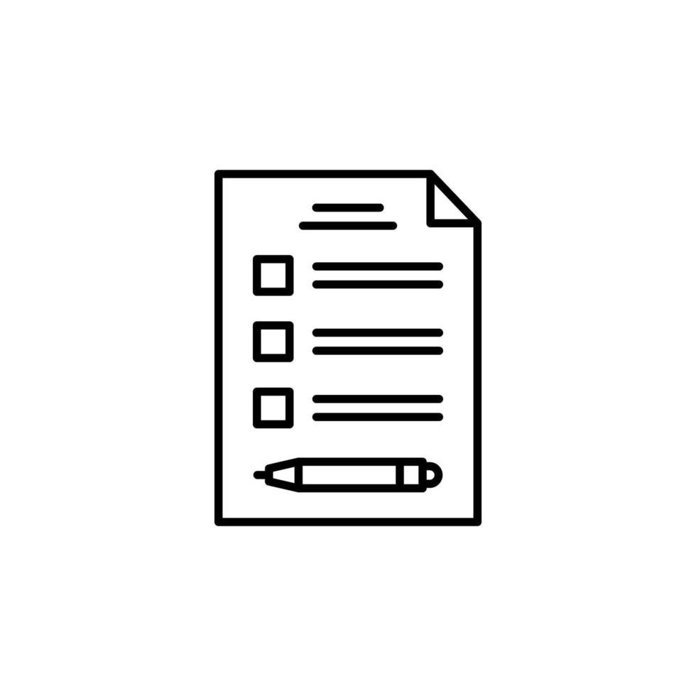 checklista vektor ikon